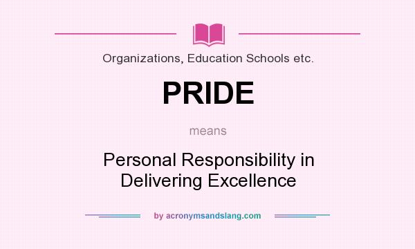 personal responsibility with your education