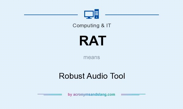 What does RAT mean? It stands for Robust Audio Tool