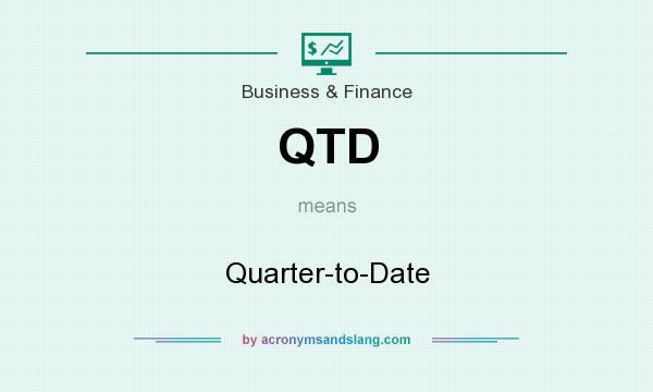 What does QTD mean? It stands for Quarter-to-Date