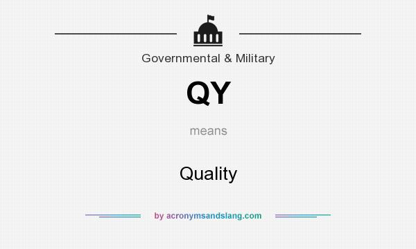 What does QY mean? It stands for Quality