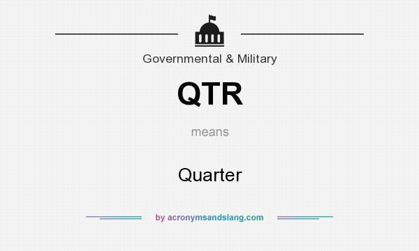 What does QTR mean? It stands for Quarter