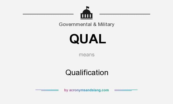 What does QUAL mean? It stands for Qualification