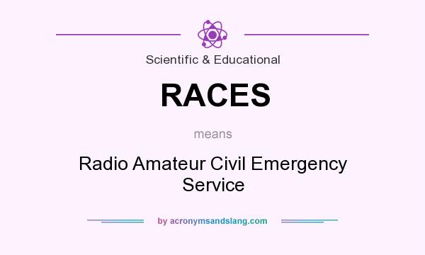 What does RACES mean? It stands for Radio Amateur Civil Emergency Service