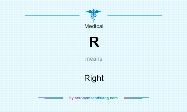 What does R mean? It stands for Right