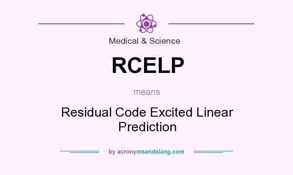 What does RCELP mean? It stands for Residual Code Excited Linear Prediction