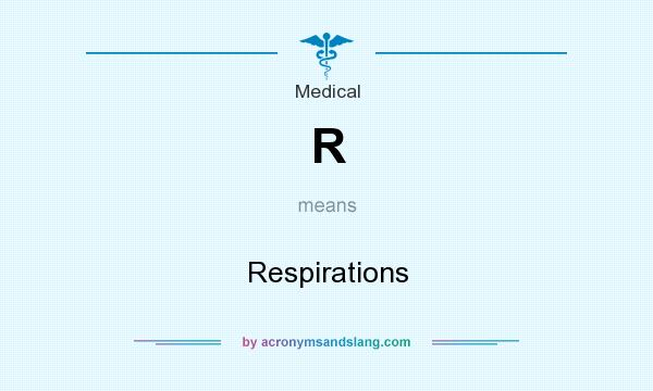 What does R mean? It stands for Respirations