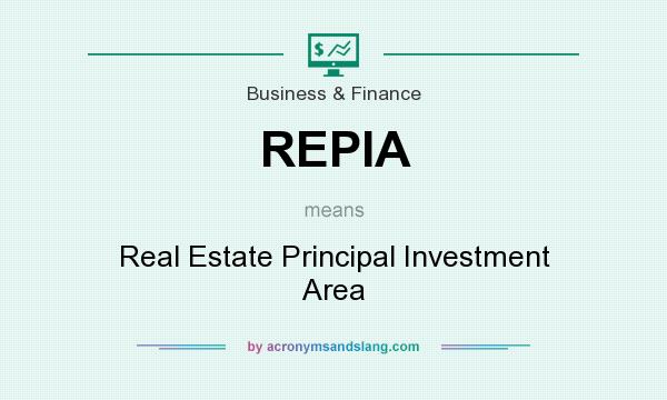 What does REPIA mean? It stands for Real Estate Principal Investment Area