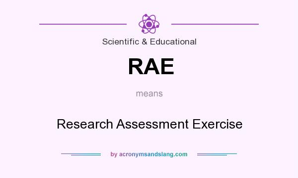 What does RAE mean? It stands for Research Assessment Exercise