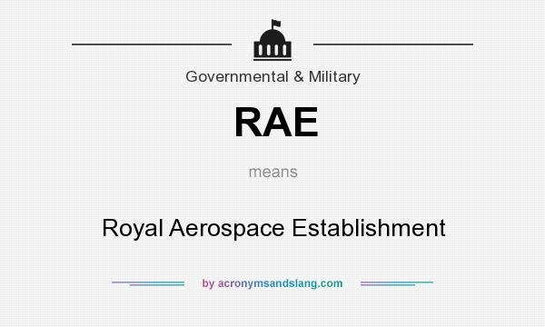 What does RAE mean? It stands for Royal Aerospace Establishment
