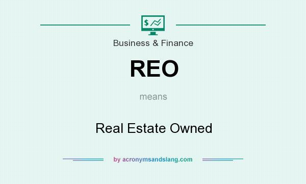 What does REO mean? It stands for Real Estate Owned