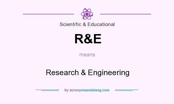 What does R&E mean? It stands for Research & Engineering