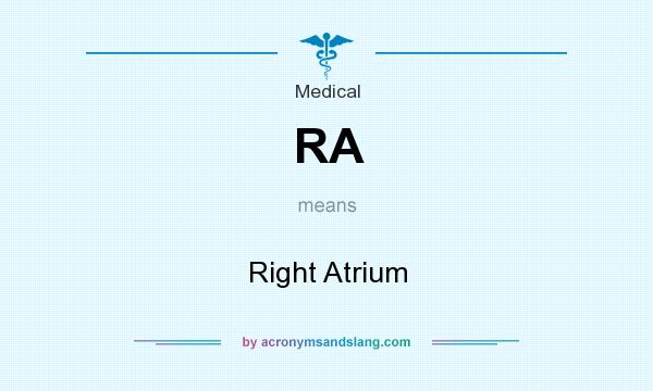 What does RA mean? It stands for Right Atrium