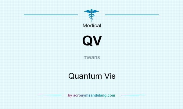 What does QV mean? It stands for Quantum Vis