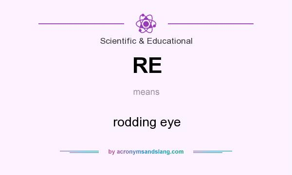 What does RE mean? It stands for rodding eye