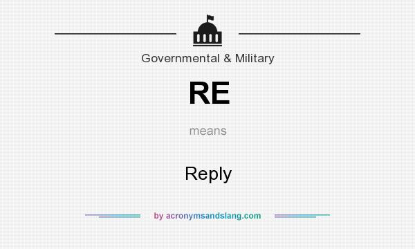 What does RE mean? It stands for Reply