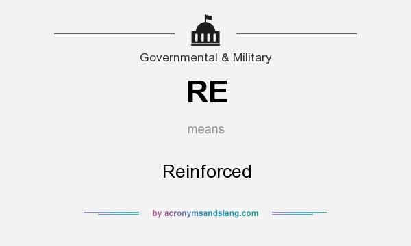What does RE mean? It stands for Reinforced