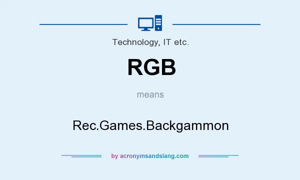 What does RGB mean? It stands for Rec.Games.Backgammon