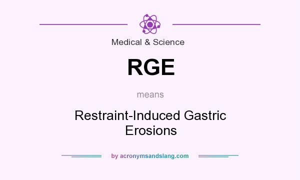What does RGE mean? It stands for Restraint-Induced Gastric Erosions