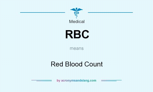 What does RBC mean? It stands for Red Blood Count