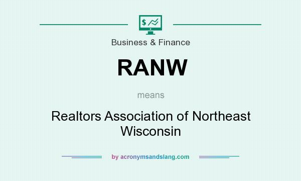 What does RANW mean? It stands for Realtors Association of Northeast Wisconsin