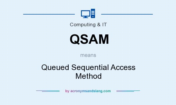 What does QSAM mean? It stands for Queued Sequential Access Method