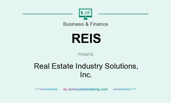 What does REIS mean? It stands for Real Estate Industry Solutions, Inc.
