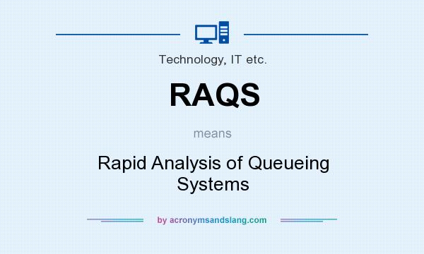 What does RAQS mean? It stands for Rapid Analysis of Queueing Systems
