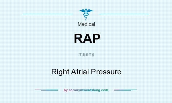 What does RAP mean? It stands for Right Atrial Pressure