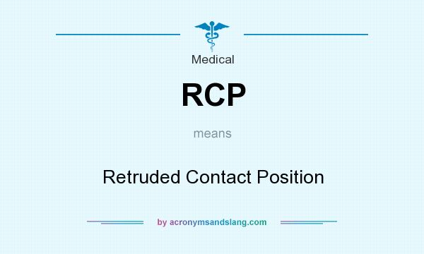 What does RCP mean? It stands for Retruded Contact Position