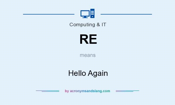 What does RE mean? It stands for Hello Again