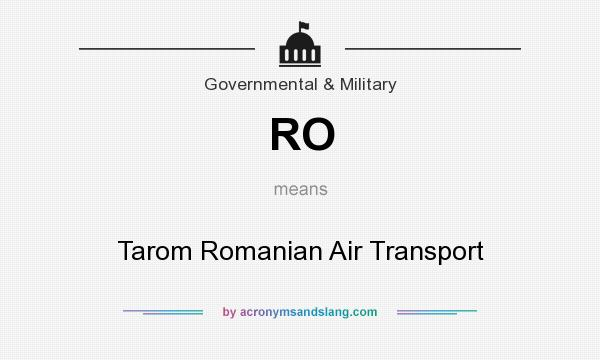 What does RO mean? It stands for Tarom Romanian Air Transport