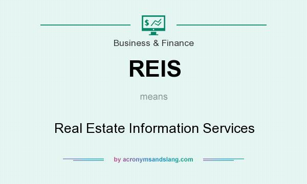 What does REIS mean? It stands for Real Estate Information Services