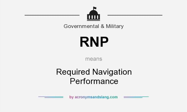 What does RNP mean? It stands for Required Navigation Performance