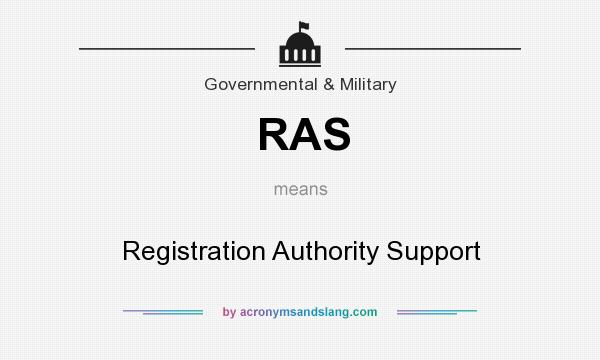 What does RAS mean? It stands for Registration Authority Support