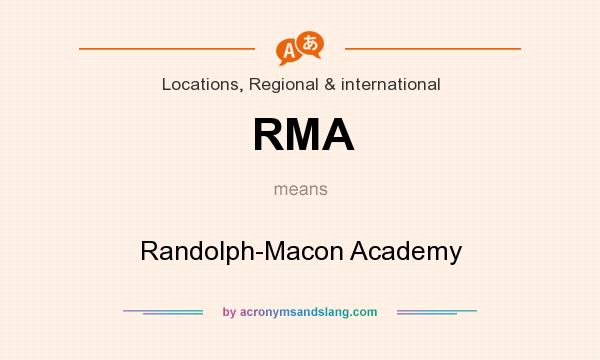 What does RMA mean? It stands for Randolph-Macon Academy