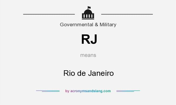 What does RJ mean? It stands for Rio de Janeiro