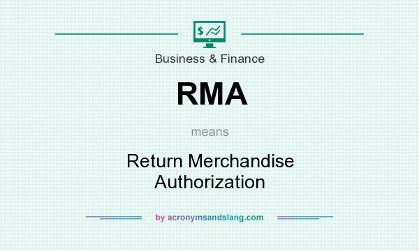 What does RMA mean? It stands for Return Merchandise Authorization