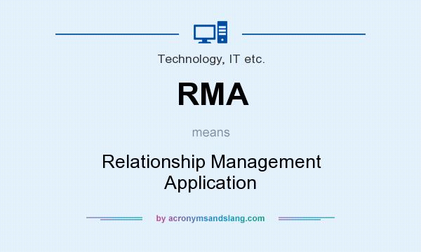 What does RMA mean? It stands for Relationship Management Application