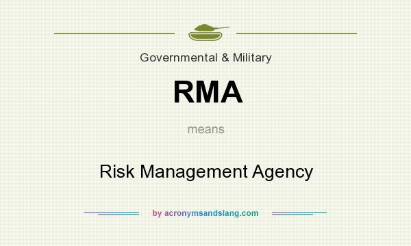 What does RMA mean? It stands for Risk Management Agency