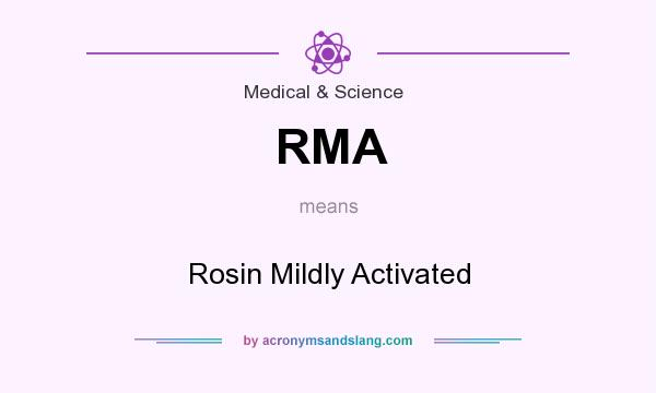 What does RMA mean? It stands for Rosin Mildly Activated