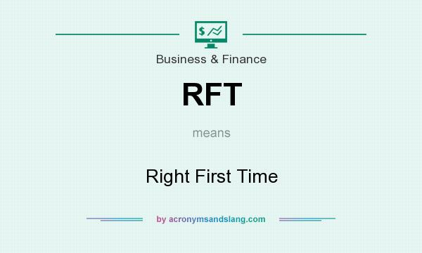 What does RFT mean? It stands for Right First Time