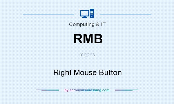 What does RMB mean? It stands for Right Mouse Button