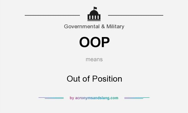 What does OOP mean? It stands for Out of Position