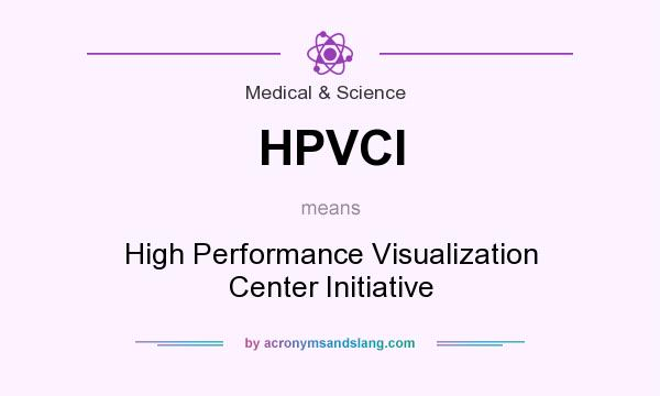 What does HPVCI mean? It stands for High Performance Visualization Center Initiative