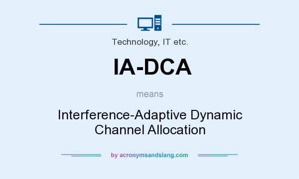 What does IA-DCA mean? It stands for Interference-Adaptive Dynamic Channel Allocation