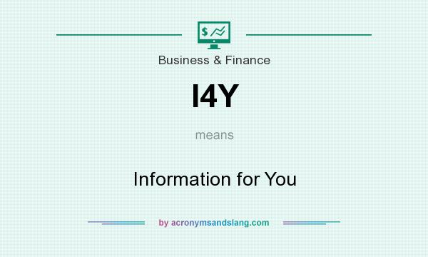 What does I4Y mean? It stands for Information for You
