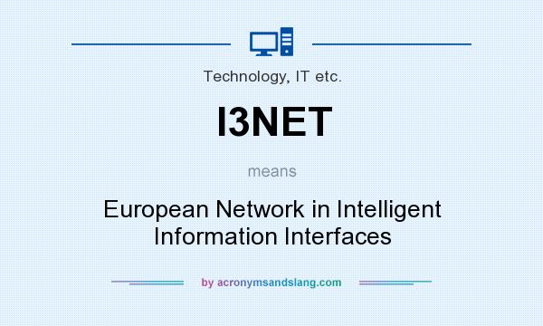 What does I3NET mean? It stands for European Network in Intelligent Information Interfaces