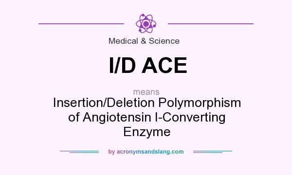 What does I/D ACE mean? It stands for Insertion/Deletion Polymorphism of Angiotensin I-Converting Enzyme