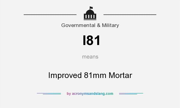 What does I81 mean? It stands for Improved 81mm Mortar