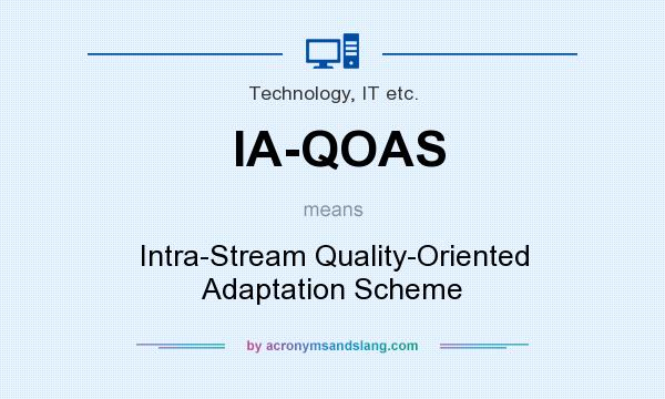 What does IA-QOAS mean? It stands for Intra-Stream Quality-Oriented Adaptation Scheme